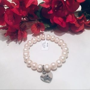 🆕 NWT 💖 cultured pearl bracelet I AM LOVED